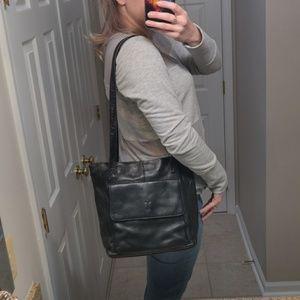 Frye 🔥 Black Leather Hobo Handbag